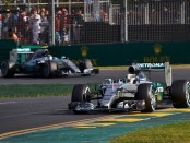 Mercedes the top Australie