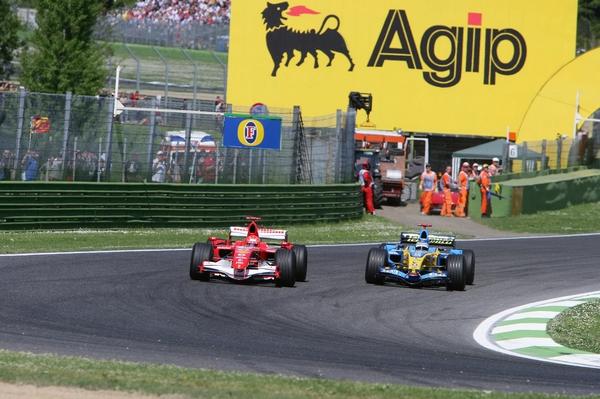 Alonso Schumacher Imola 2006