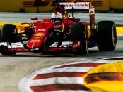 Sebastian Vettel course Singapour 2015