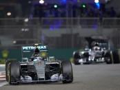 Rosberg course Abou Dhabi