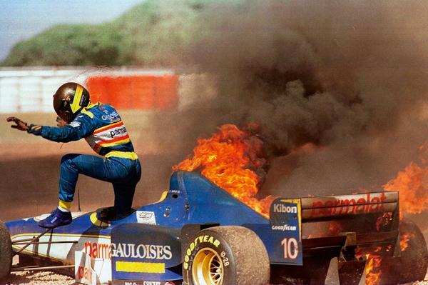 L'impressionnant incendie de la Ligier de Pedro Diniz en 1996 demeure l'une des images fortes du Grand Prix d'Argentine.