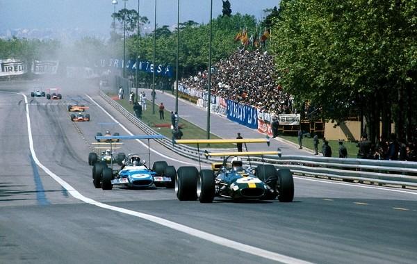 Jack Brabham Jackie Stewart Montjuic 1969