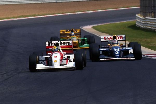 Senna Prost Schumacher Kyalami 1993