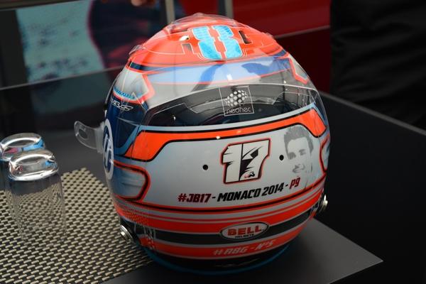 Romain Grosjean casque Monaco 2016