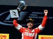 Sebastian Vettel podium Hongrie 2015