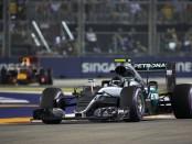Nico Rosberg course Singapour 2016