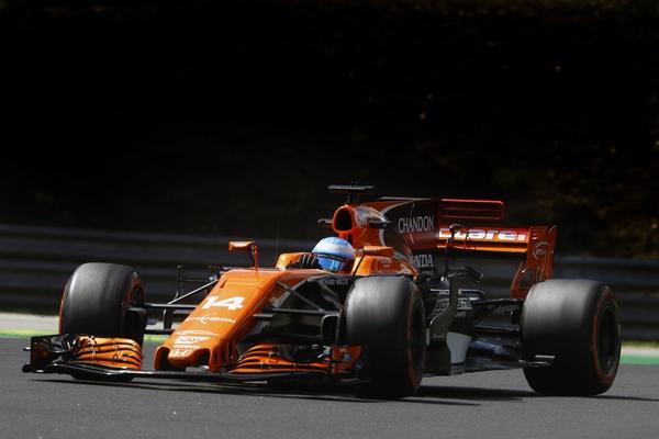 Fernando Alonso course Hongrie 2017
