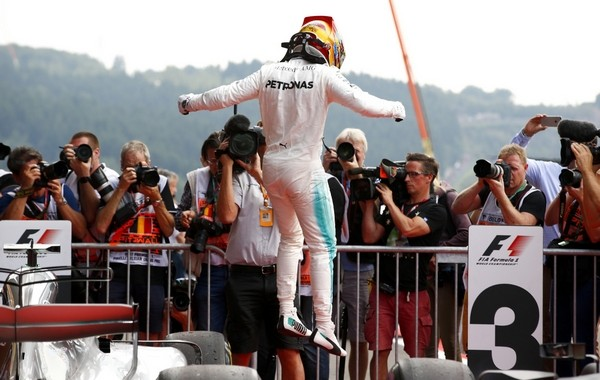 Lewis Hamilton the top Belgique 2017