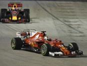 Sebastian Vettel the flop Singapour 2017