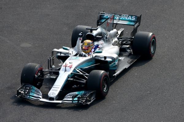 Lewis Hamilton course Mexique 2017
