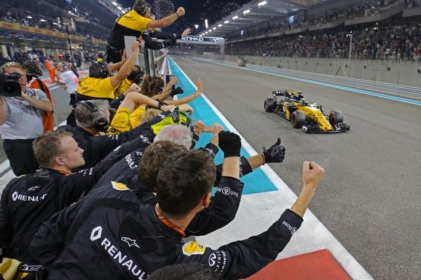 Nico Hulkenberg course Abou Dhabi