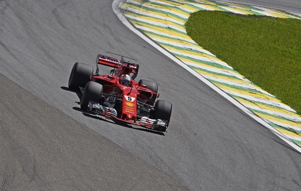Sebastian Vettel course Brésil 2017