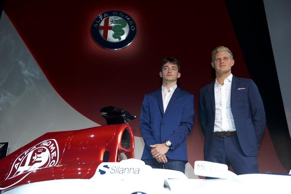 Leclerc présentation Alfa Romeo