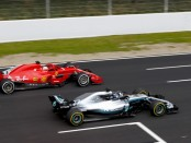 Mercedes Ferrari Barcelone tests