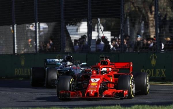 Vettel Hamilton Australie 2018