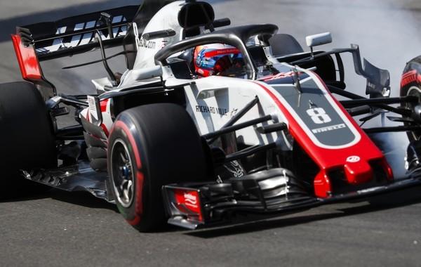 Romain Grosjean the flop Espagne 2018