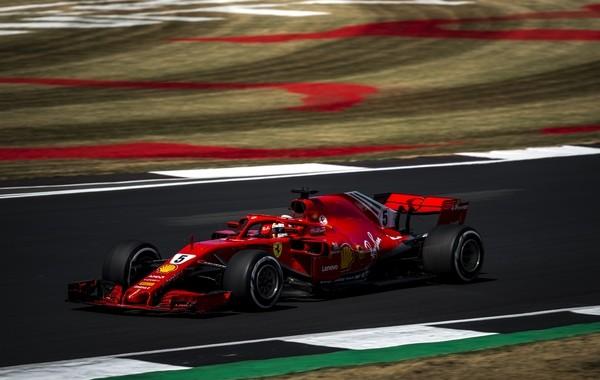 Sebastian Vettel course Angleterre 2018