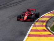 Sebastian Vettel course Belgique 2018