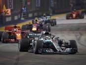 Lewis Hamilton course Singapour 2018