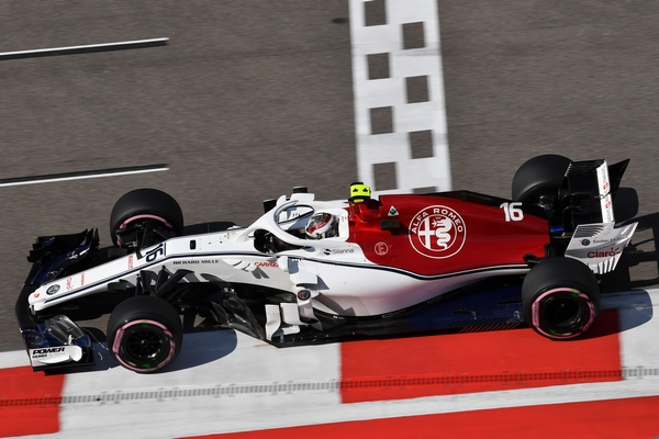 Charles Leclerc qualification Russie 2018