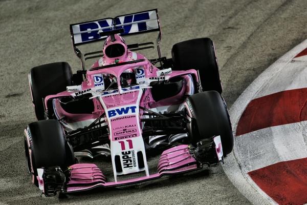Sergio Perez qualification Singapour 2018