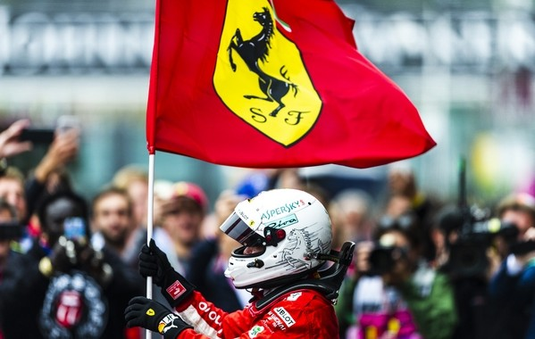 Sebastian Vettel the top Belgique 2018