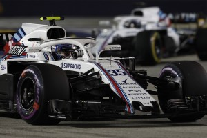 Williams flop Singapour 2018