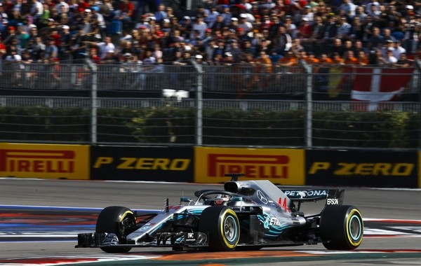 Lewis Hamilton course Russie 2018