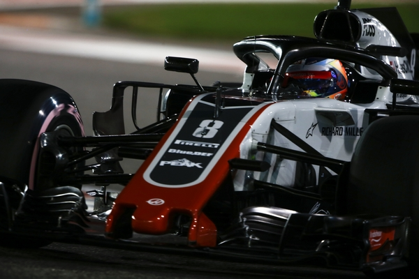 Romain Grosjean qualification Abu Dhabi