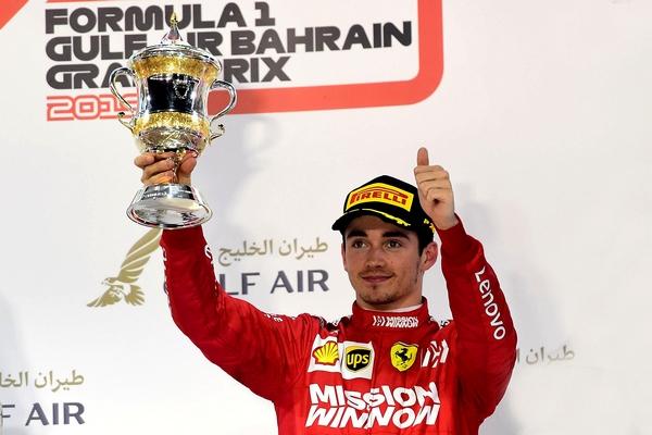 Charles Leclerc podium Sakhir 2019