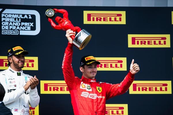 Charles Leclerc podium Castellet 2019