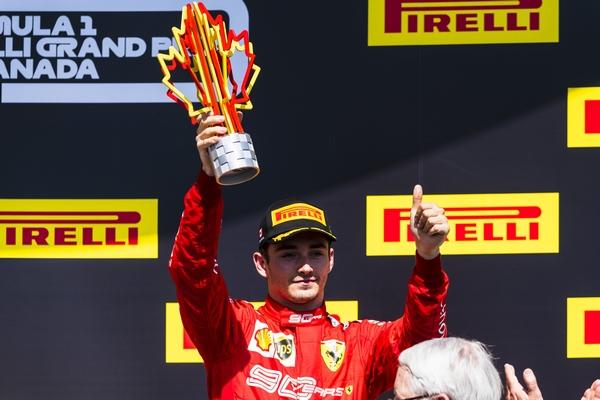 Charles Leclerc podium Canada 2019
