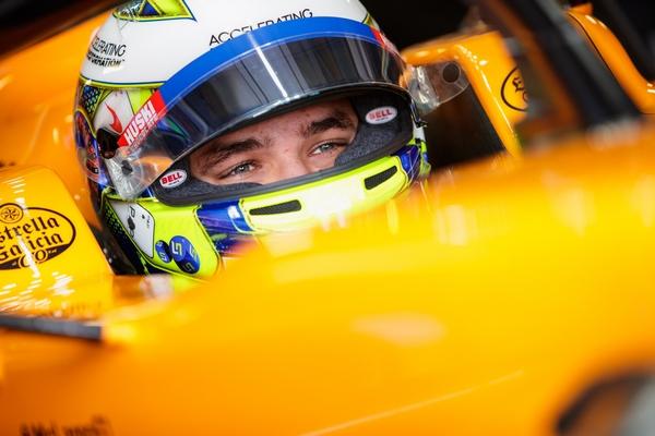 Lando Norris cockpit Monaco 2019