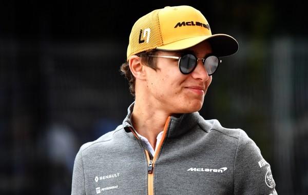 Lando Norris stand Monaco 2019