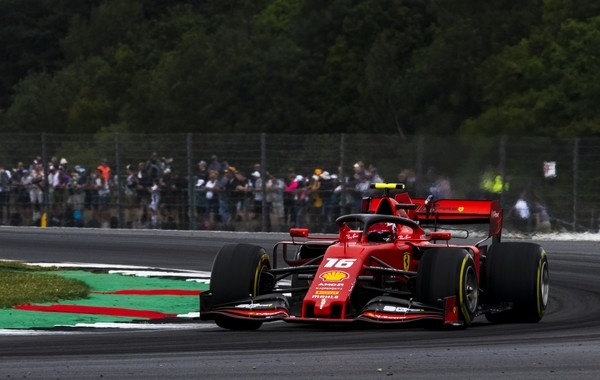Charles Leclerc course Angleterre 2019