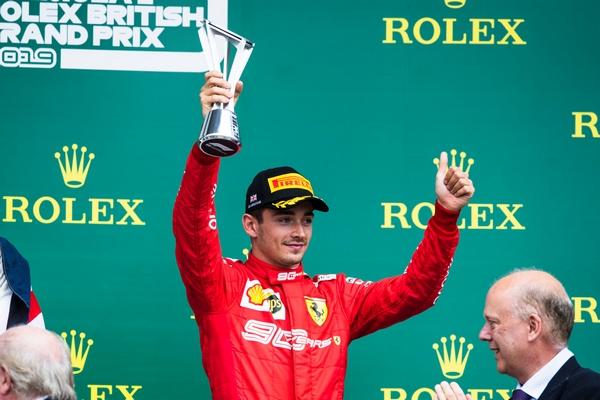 Charles Leclerc podium Silverstone 2019