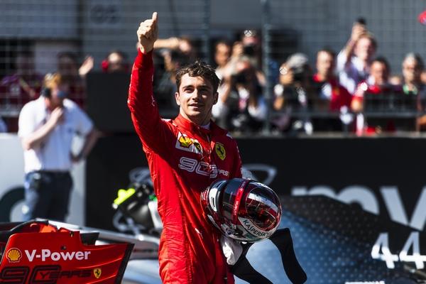 Charles Leclerc pole Autriche 2019