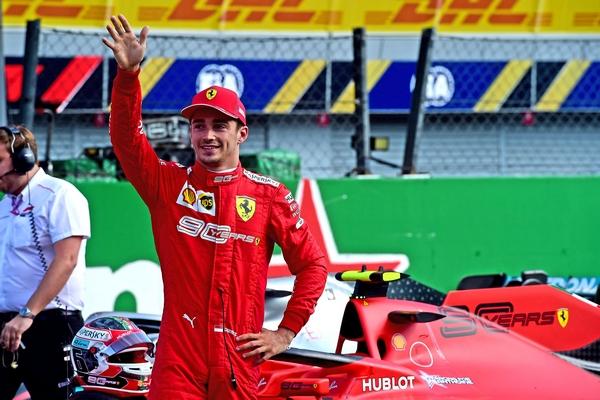 Charles Leclerc pole Monza 2019