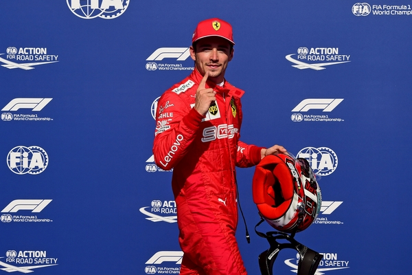 Charles Leclerc qualification Spa 2019