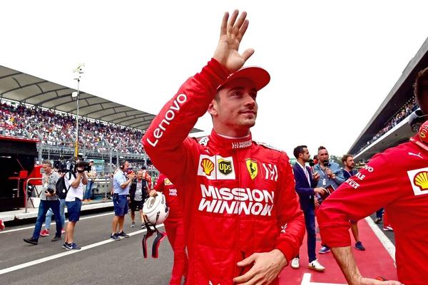 Charles Leclerc pole Mexico 2019