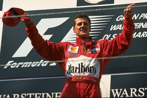 Michael Schumacher podium Saint-Marin 1999